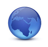 Earth. Shiny blue globe created in Photoshop Royalty Free Stock Images