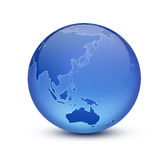 Earth. Shiny blue globe created in Photoshop Royalty Free Stock Photos