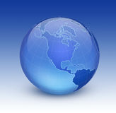 Earth. Shiny blue globe created in Photoshop Stock Images