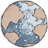 Earth. Vector Planet Earth blue water royalty free illustration