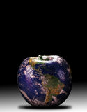 Earth. The earth as apple in 3d Stock Images