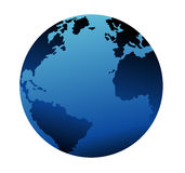 Earth. Blue earth, illustration, vector 3d Stock Photography