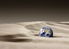 Earth. Planet earth in the desert stock images
