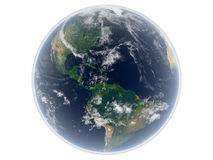 Earth. 3d render of the earth and atmosphere Royalty Free Stock Photo