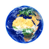 Earth. Globe, Africa and Europe, high resolution image Royalty Free Stock Photo