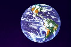 Earth. Isolated image of the Earth stock photography