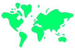 Earth. Curvy World Map vector illustration