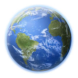 Earth. 3d rendering of earth with clouds and shades Royalty Free Stock Image