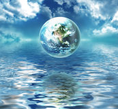 Earth above the water royalty free illustration