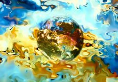Earth in abstract background. Beautiful color background. Stock Photos