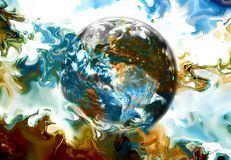 Earth in abstract background. Beautiful color background. Stock Image