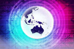 Earth on abstract colorful background Stock Images