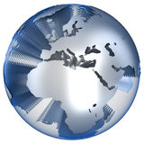 Earth. Abstract globe earth in layers Royalty Free Stock Images