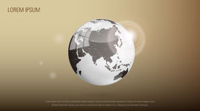 Earth. Abstract illustration of earth design Royalty Free Stock Images