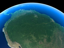 Earth - Amazon. The Amazon rainforest as seen from space Royalty Free Stock Photos