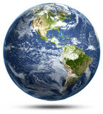 Earth - America white isolated Royalty Free Stock Image