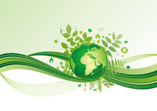 Earth And Environment Icon,green Background Royalty Free Stock Photo