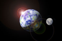 Earth And Moon Royalty Free Stock Photography