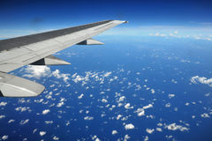 Earth And Plane Wing Stock Photos