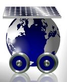 Earth And Solar Panel Royalty Free Stock Photo