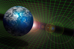 Free Earth And Space On A Grid Royalty Free Stock Photos - 3975438