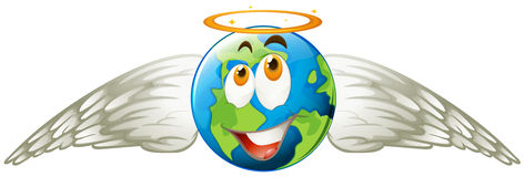 Earth with angel wings Stock Photos