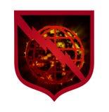 Earth Apocalypse, sign royalty free illustration