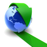 Earth_arrow Stock Photos