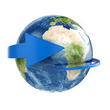 Earth with arrow Royalty Free Stock Photos