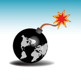 Earth as a bomb Royalty Free Stock Photo