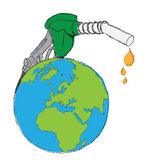 Earth as gas pump Stock Image