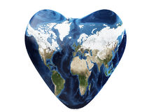 Earth as a heart Stock Photo