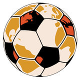 Earth as soccer ball Stock Images
