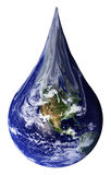 Earth as a teardrop. The Earth shaped as a teardrop. From a NASA image Stock Images
