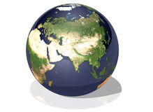 Earth asia. Ultra high quality 3d rendered earth asia continent Royalty Free Stock Photos