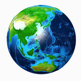 Earth Asia View Stock Image