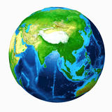 Earth Asia View Stock Photos