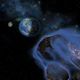 Earth Asteroids Stock Photo