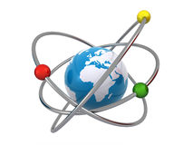 Earth atom Stock Images