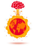 Earth and atomic bomb. Royalty Free Stock Photo