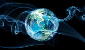 Earth aura. Digital picture, energy concept royalty free stock photo