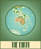 The Earth with Australia Royalty Free Stock Images