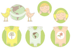 Earth Baby Set Stock Photography
