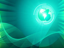 Earth Background Shows Global Transfer And Communication Royalty Free Stock Image