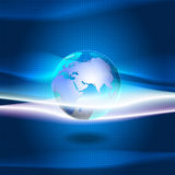 Earth background. Vector earth on blue abstract background Royalty Free Stock Image