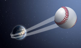 Earth With Ball Swoosh In Space Royalty Free Stock Images