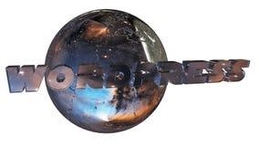 Earth ball with wordpress Stock Photo