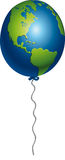 Earth balloon. Earth printed in a fragile balloon Royalty Free Stock Images