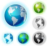 Earth balls - America. America high-detailed earth balls. Vector Royalty Free Stock Photography
