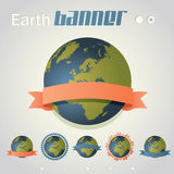 Earth banner Stock Images